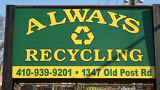 Always Recycling Sign